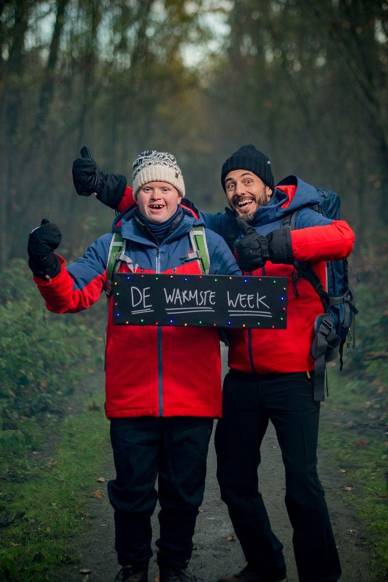 Dieter Coppens en Kevin samen onderweg voor De Warmste Week.