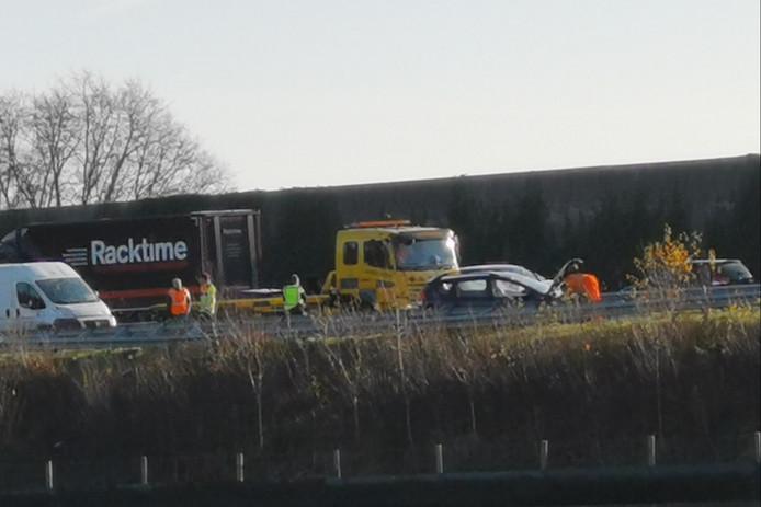 Ongeluk dinsdagochtend op de A12 bij Bennekom.