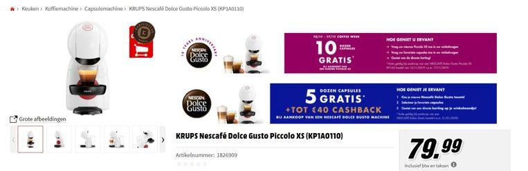 De prijs bedraagt momenteel 79,99 euro bij MediaMarkt.