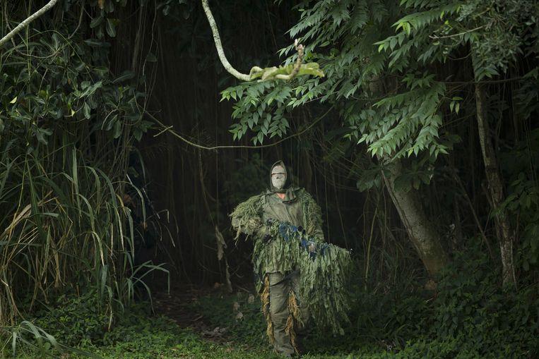 Een sluipschutter van de Braziliaanse marine.