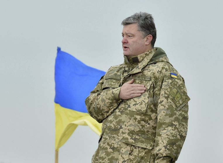 De Oekraïense president Poroshenko. Beeld reuters