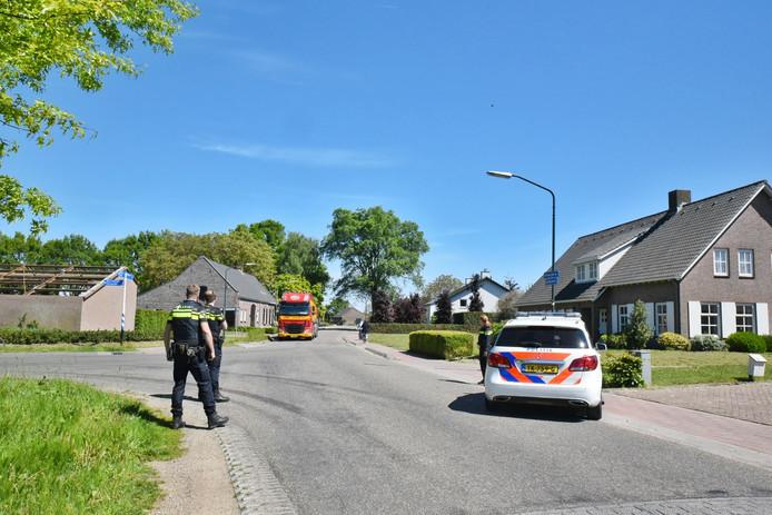 De politie was woensdag ook alert in Moergestel, omdat ook daar activisten waren gespot.