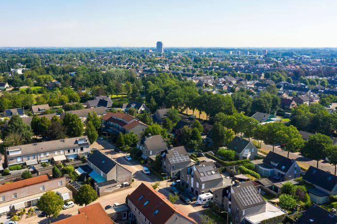 Prinsenbeek vanuit de lucht gezien. Vanuit het Dorpsplatform ligt er een initiatief om een deel van het centrum van het dorp tot aardgasvrije wijk te maken. Daar staat veel oudere woningen, waar nog veel te winnen valt als het gaat om verduurzaming.