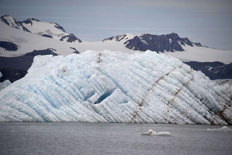 Kongs Fjord in Spitsbergen Beeld afp
