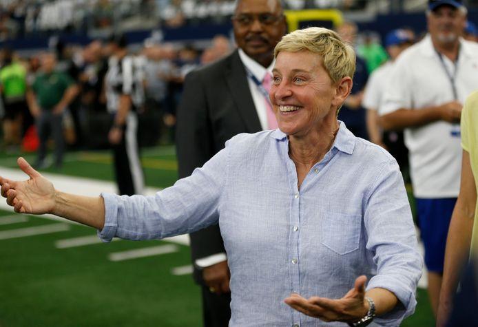 Ellen DeGeneres voorafgaand aan de wedstrijd.