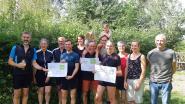 Sportievelingen zamelen al lopend, wandelend en fietsend 11.000 euro in voor natuurgebied Burreken