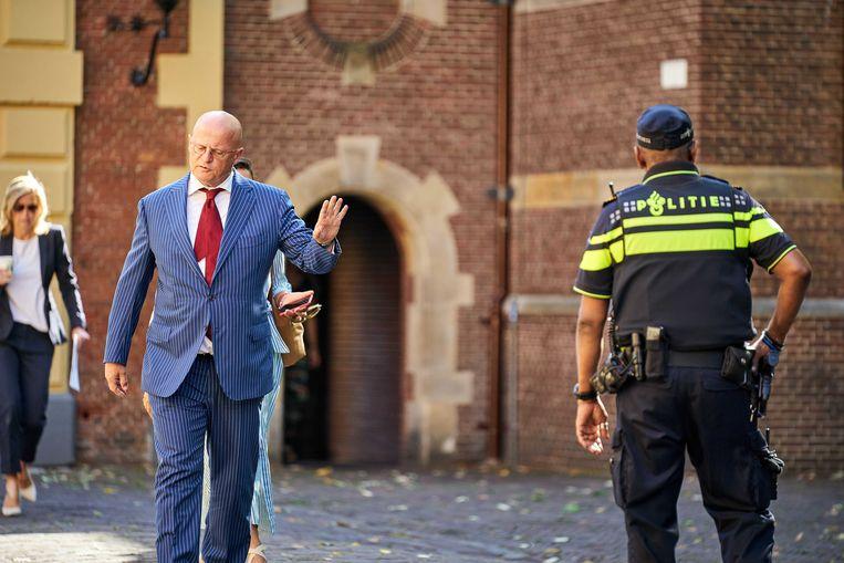 Geen wittebroodsweken voor minister Grapperhaus, maar gewoon aan het werk op het Binnenhof.  Beeld ANP / Phil Nijhuis