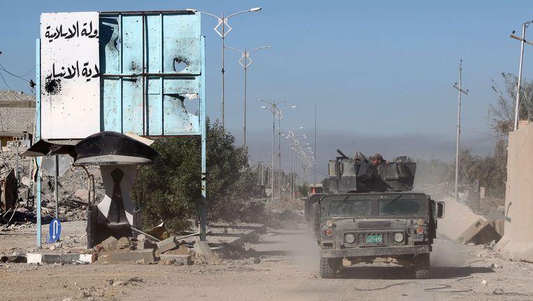 Iraakse troepen strijden in Irak tegen terrorisme. Beeld null