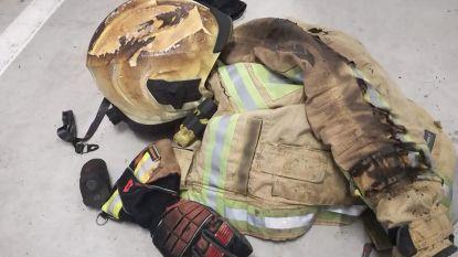 """Brandweerman kan slachtoffer niet vasthouden: """"Helm en jas in brand omdat hij toch wou helpen"""""""