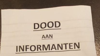 """""""Dood aan informanten"""": honderden verontrustende pamfletten verdeeld in Antwerpen en buurgemeenten"""