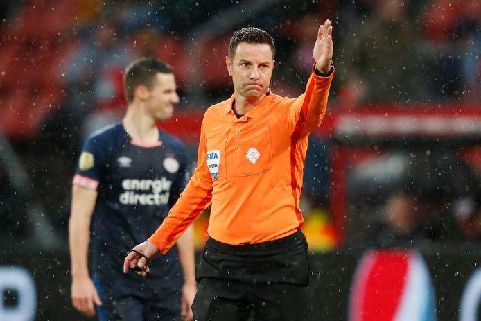Pol van Boekel tijdens de wedstrijd in Utrecht.