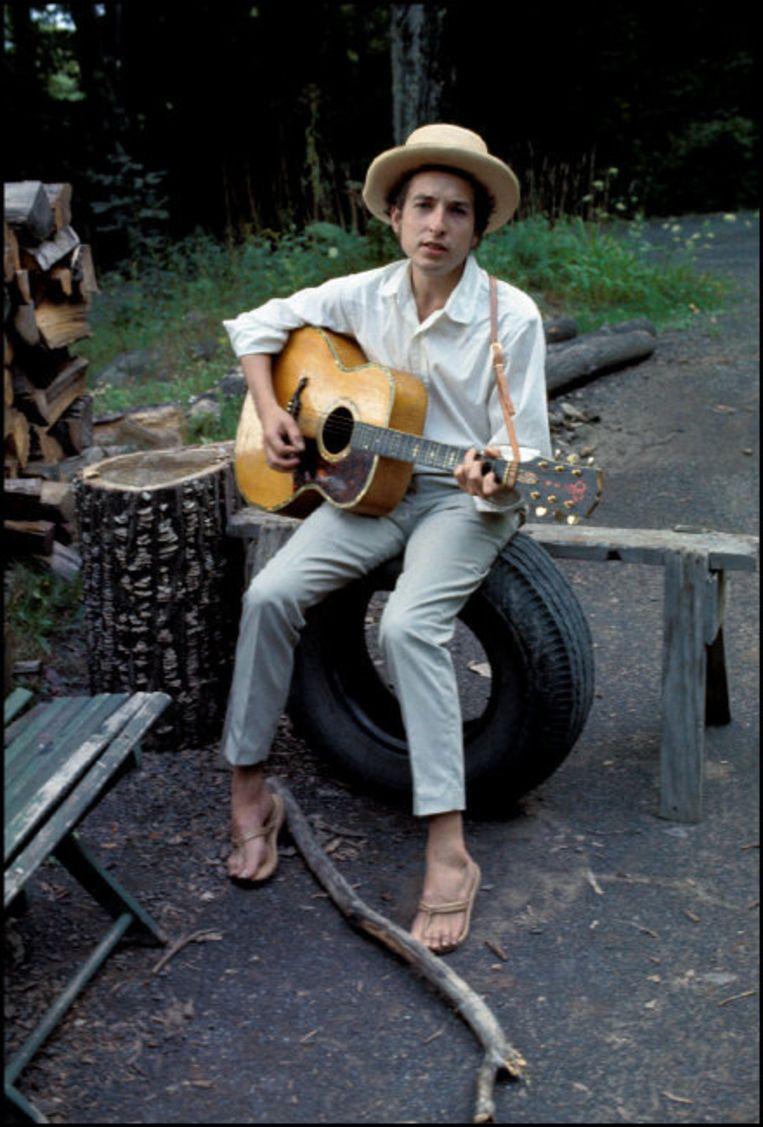 Muziek: Bob Dylan.'Zoals ik Orwell kopieerde, imiteerde hij eerst Woody Guthrie, en daarna maakte hij werkelijk oorspronkelijk werk.' Beeld Hollandse Hoogte