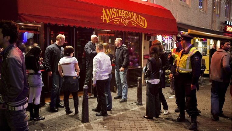 Een uitgaansgelegenheid bij het Leidseplein. Archieffoto. Beeld Amaury Miller, www.amaurymiller.nl