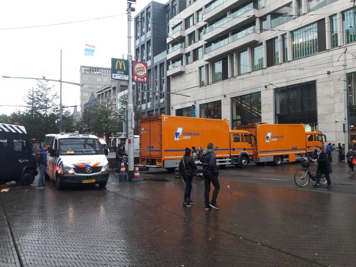 Vermeulen blokkeert de weg bij het boerenprotest in Den Haag