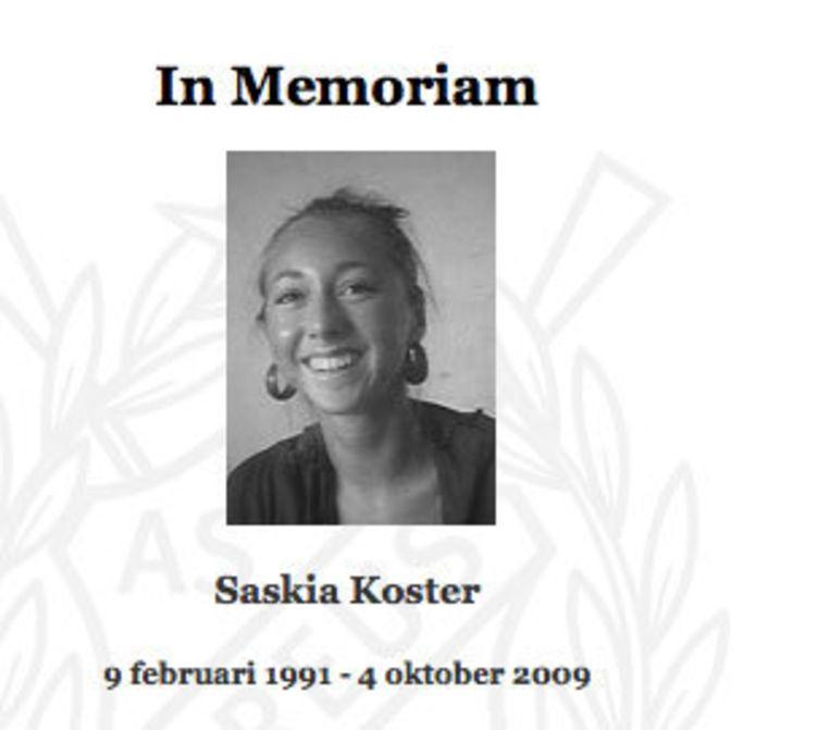 Saskia Koster is omgekomen bij een auto-ongeluk in Wassenaar. Haar roeivereniging heeft een officiele rouwperiode afgekondigd. Foto website Nereus Beeld