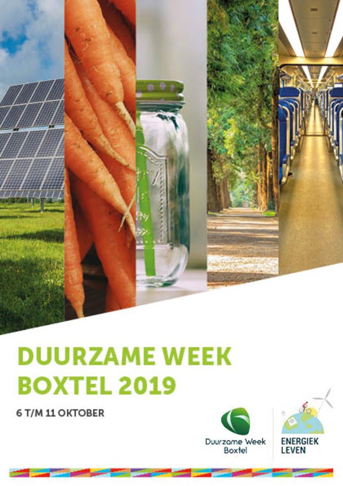 Poster Duurzame Week Boxtel 2019.