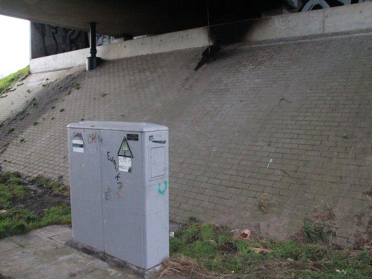 Van deze elektriciteitskast van Fluvius werd illegaal elektriciteit afgetapt