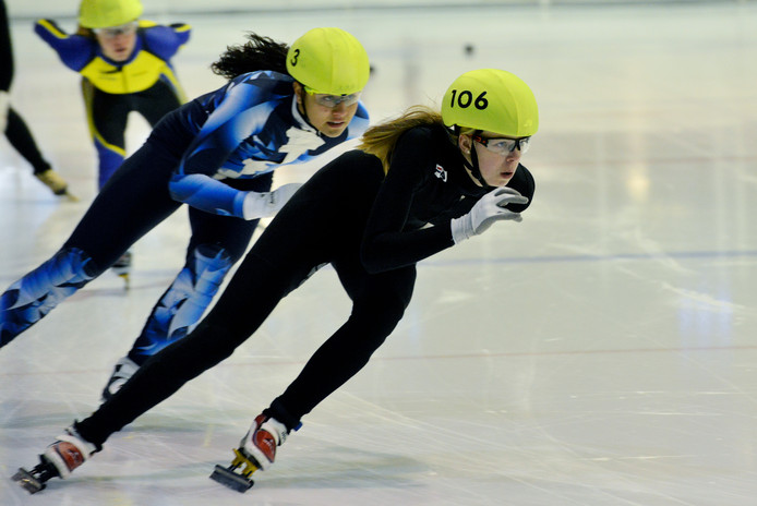 Gioya Lancee is terug op de ijsbaan.