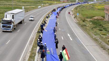 Bolivianen eisen toegang tot de zee met 200 kilometer lange vlag