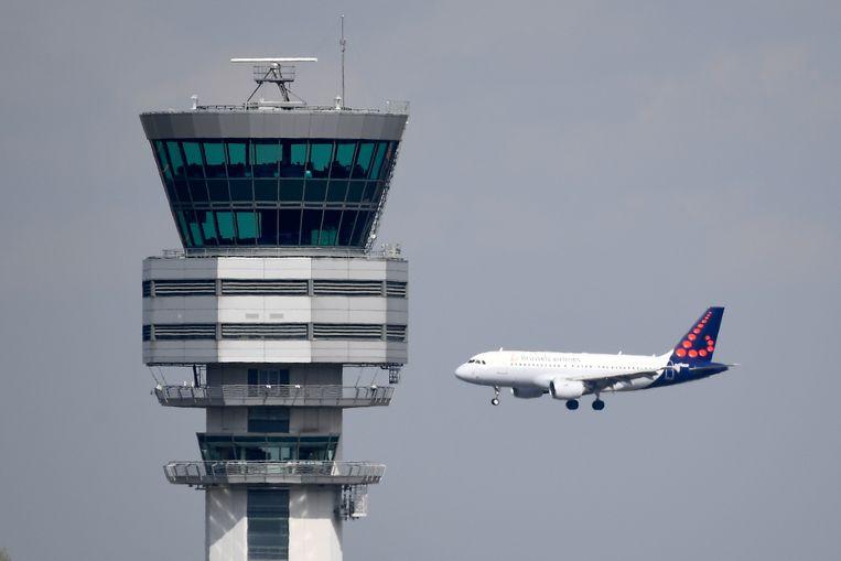 De luchtverkeerstoren van waaruit skeyes opereert in Zaventem.