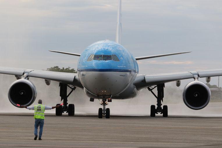 Bij zowel KLM als Air France presteert passagiersvervoer beter dan vrachtvluchten.  Beeld AFP
