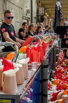 VIDEO: Duizenden liters bier in de Koepelhal in Tilburg