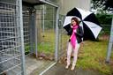 Martine Goeman van Defense for Children bij het Kamp van Zeist.