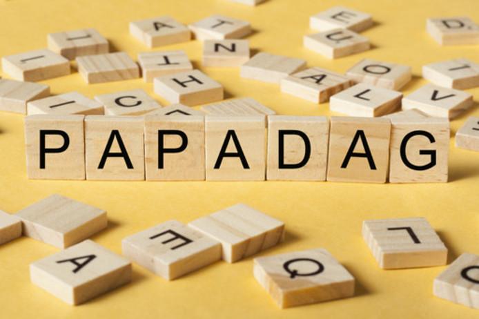 papadag, woord, letters
