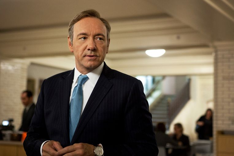 Kevin Spacey als Frank Underwood in House of Cards. Beeld ap