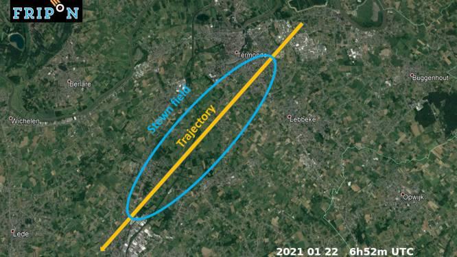 Meteoriet neergestort tussen Dendermonde en Aalst: wie vindt brokstukken?