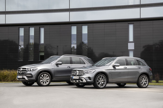 Plug-in hybrides Mercedes GL en GLC: grote SUV's, kleine slokjes
