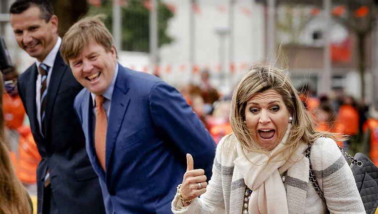 Willem-Alexander en Maxima vrijdag op bezoek bij basisschool De Vijfmaster in Veghel. Beeld anp