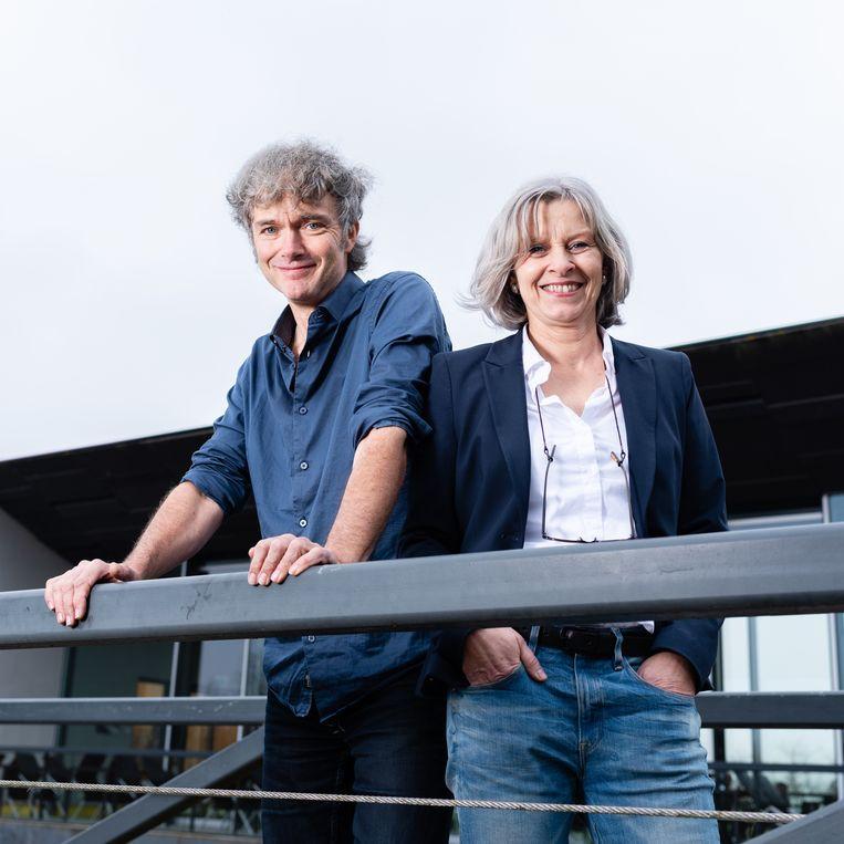 Han Steenbruggen en Corrie Oerlemans.  Beeld Katja Poelwijk