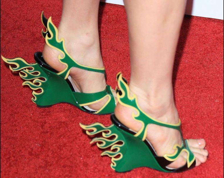 bff9cc04941 ... De vlammende Prada-schoenen van Fergie Beeld PHOTO_NEWS ...