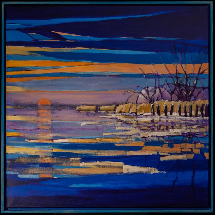 Winter, het verdwenen schilderij als onderdeel van het door Jan Krikke geschilderde vierluik.