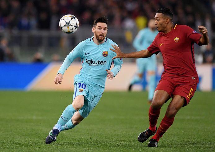 Juan Jesus versus Messi in de beruchte CL-campagne van AS Roma, toen de 'giallorossi' FC Barcelona uitschakelden in de kwartfinales.