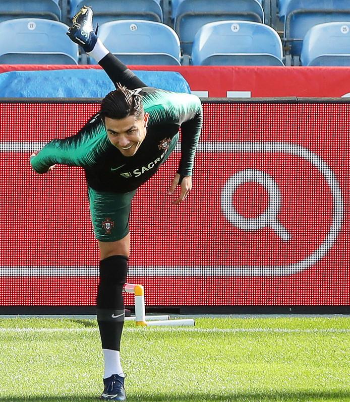 Cristiano Ronaldo heeft het naar zijn zin bij Portugal.
