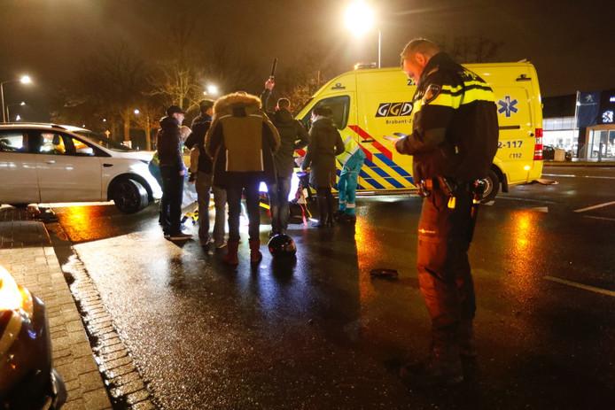 Maaltijdbezorger aangereden op De Run in Veldhoven.