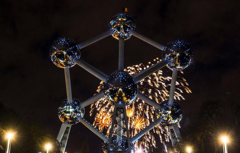 Het Atomium tijdens oudjaar.