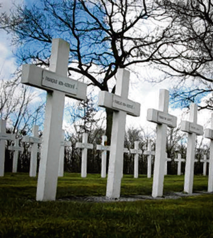 De Franse militaire begraafplaats in Kapelle.