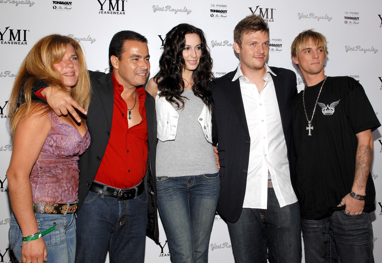 Esther Vered, David Vered, Angel Carter, Nick Carter en Aaron Carter