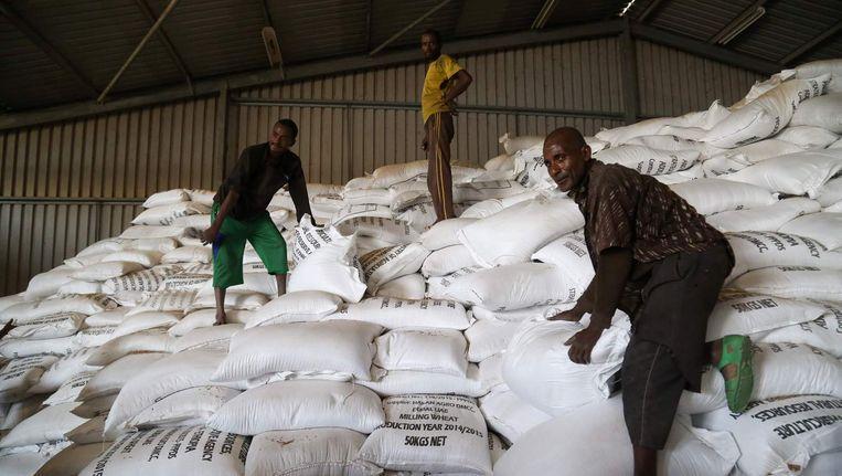 Noodhulp in Ethiopië. Beeld anp