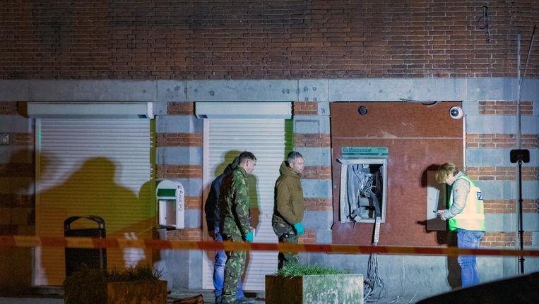 De plofkraak op het Surinameplein was de vijfde op een ABN Amro-geldautomaat in maand tijd. Beeld anp
