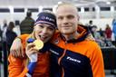 Jutta Leerdam en Koen Verweij met gouden medaille op het WK afstanden schaatsen.