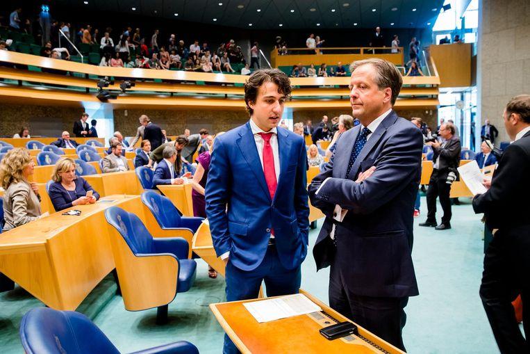 D66-voorman Alexander Pechtold zag zijn droomcoalitie stranden door het wegvallen van GroenLinks. Beeld anp