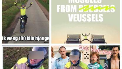 Internet lacht zich krom met fietser vs. trucker