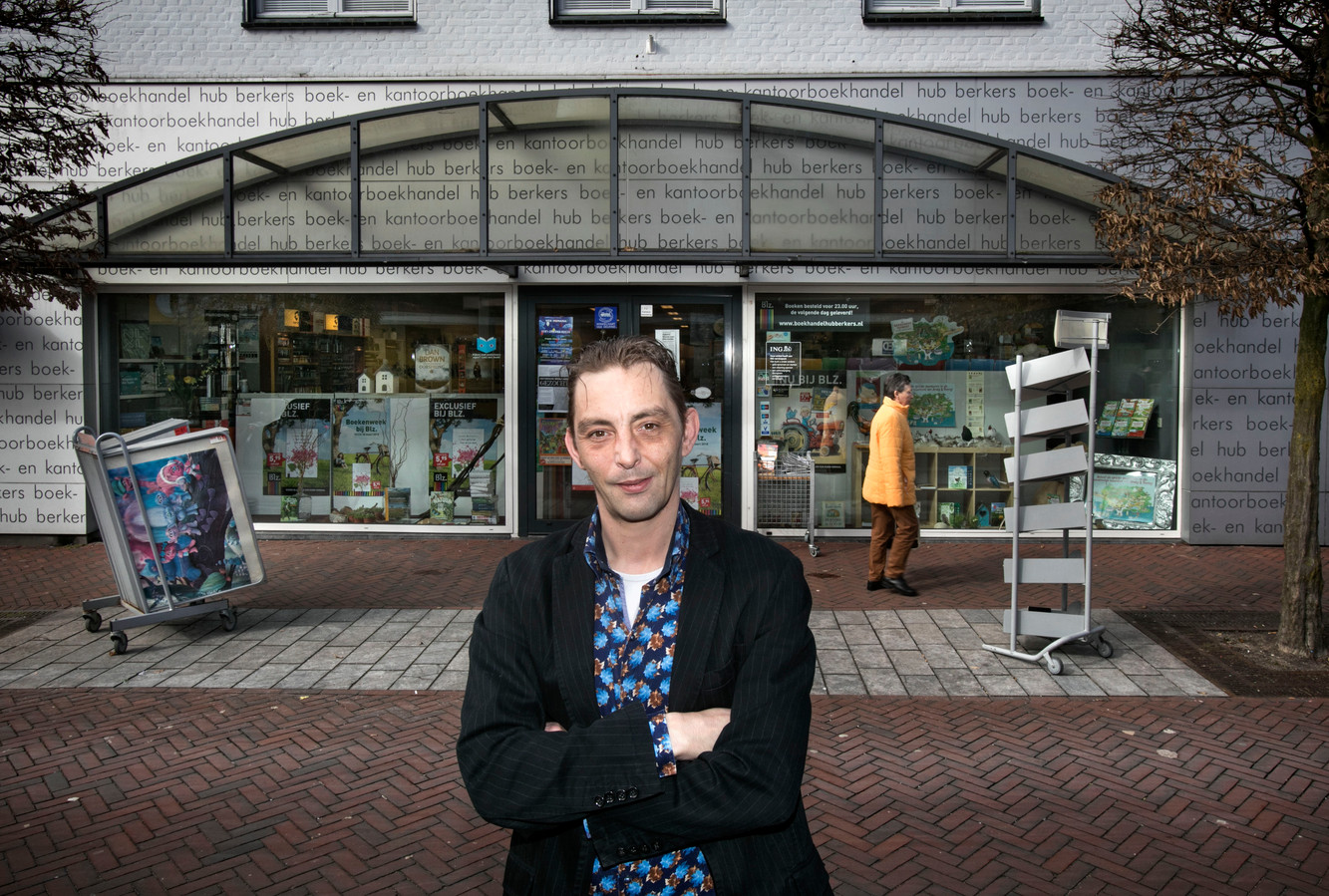 Leon Berkers van boekhandel Hub Berkers in Deurne