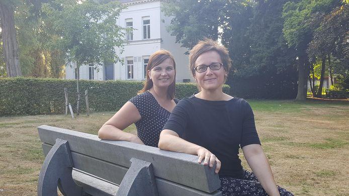 Trees Van Eykeren en Brenda Van den Bossche willen de oude pastorietuin als speelplein laten inrichten.
