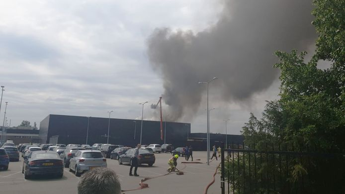 Brand in de Gazellefabriek in Dieren.