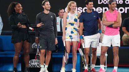 """Benefietwedstrijd gaat wel door in Australië, Djokovic tegen opponent: """"Ik heb die truc 20 jaar geleden geleerd, toen zat jij nog in de pampers"""""""
